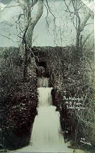 The waterfall at Mill Farm about 1910 [Z1130/126/11]